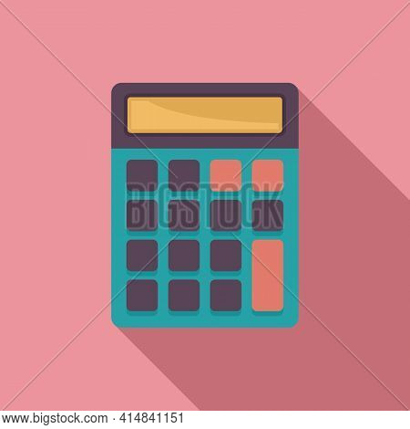 Science Calculator Icon. Flat Illustration Of Science Calculator Vector Icon For Web Design