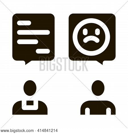Confession To Priest Glyph Icon Vector. Confession To Priest Sign. Isolated Symbol Illustration