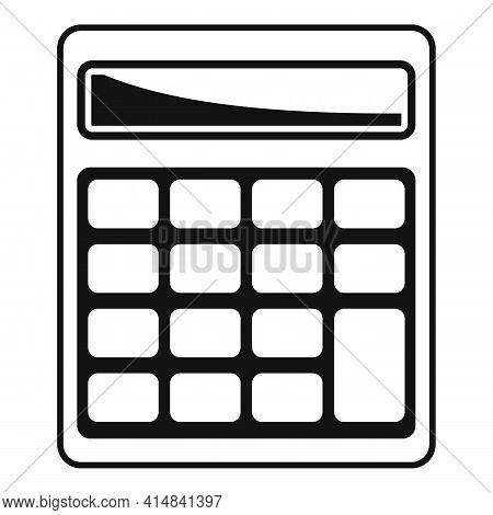 Math Calculator Icon. Simple Illustration Of Math Calculator Vector Icon For Web Design Isolated On