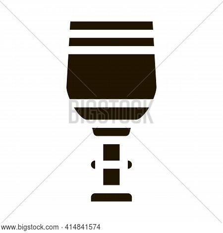 Sacred Water In Church Glyph Icon Vector. Sacred Water In Church Sign. Isolated Symbol Illustration
