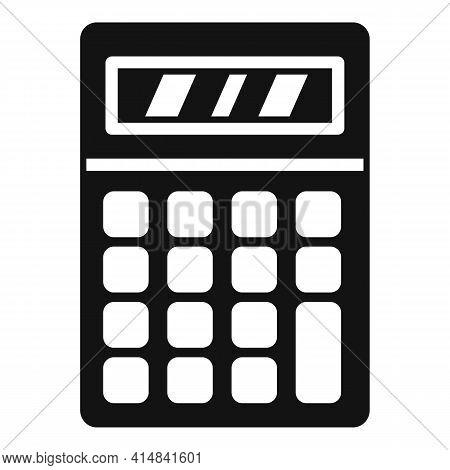 Algebra Calculator Icon. Simple Illustration Of Algebra Calculator Vector Icon For Web Design Isolat