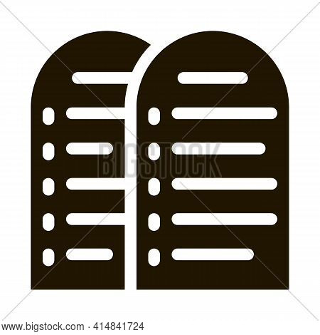 Christian Building Glyph Icon Vector. Christian Building Sign. Isolated Symbol Illustration