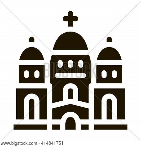 Christian Temple With Domes Glyph Icon Vector. Christian Temple With Domes Sign. Isolated Symbol Ill