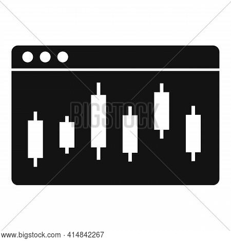 Trader Web Page Icon. Simple Illustration Of Trader Web Page Vector Icon For Web Design Isolated On