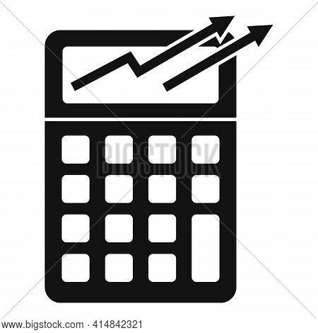 Trader Calculator Icon. Simple Illustration Of Trader Calculator Vector Icon For Web Design Isolated