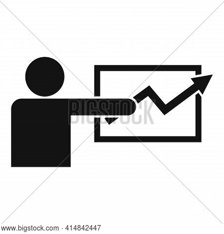 Trader Lesson Icon. Simple Illustration Of Trader Lesson Vector Icon For Web Design Isolated On Whit