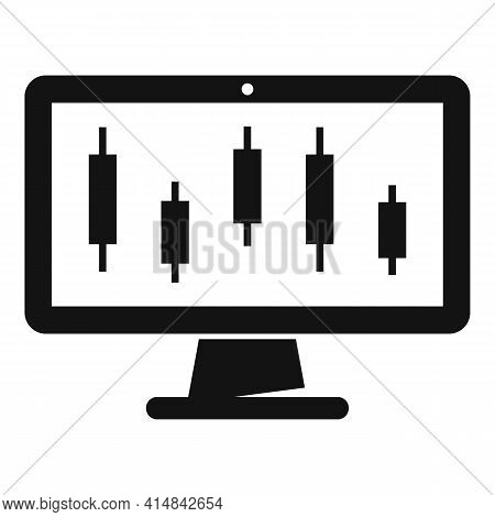 Trade Online Monitor Icon. Simple Illustration Of Trade Online Monitor Vector Icon For Web Design Is