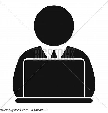 Home Trader Work Icon. Simple Illustration Of Home Trader Work Vector Icon For Web Design Isolated O