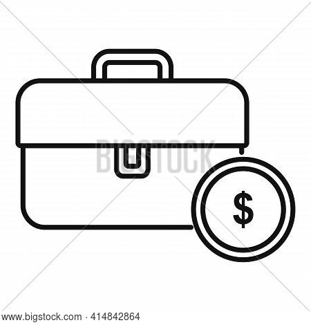 Trade Money Case Icon. Outline Trade Money Case Vector Icon For Web Design Isolated On White Backgro