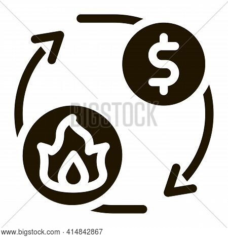 Sale Gas Supply For Money Glyph Icon Vector. Sale Gas Supply For Money Sign. Isolated Symbol Illustr