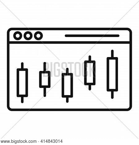 Trader Web Page Icon. Outline Trader Web Page Vector Icon For Web Design Isolated On White Backgroun
