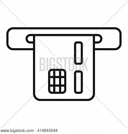 Trader Bank Card Icon. Outline Trader Bank Card Vector Icon For Web Design Isolated On White Backgro