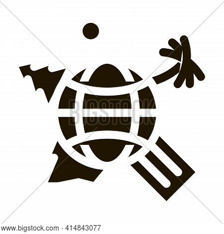 Human Geography Science Glyph Icon Vector. Human Geography Science Sign. Isolated Symbol Illustratio