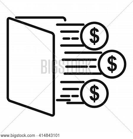 Trader Desk Icon. Outline Trader Desk Vector Icon For Web Design Isolated On White Background