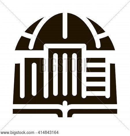Urban Geography Glyph Icon Vector. Urban Geography Sign. Isolated Symbol Illustration