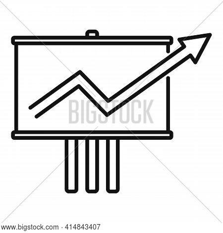 Trader Desk Banner Icon. Outline Trader Desk Banner Vector Icon For Web Design Isolated On White Bac