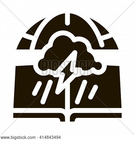 Meteorology Science Glyph Icon Vector. Meteorology Science Sign. Isolated Symbol Illustration