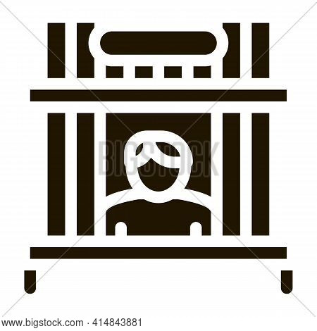 Collection Point Pawnshop Glyph Icon Vector. Collection Point Pawnshop Sign. Isolated Symbol Illustr