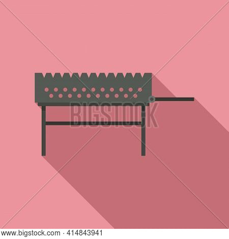 Bonfire Brazier Icon. Flat Illustration Of Bonfire Brazier Vector Icon For Web Design