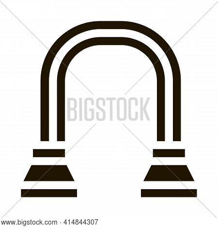 Shoulder Expander Glyph Icon Vector. Shoulder Expander Sign. Isolated Symbol Illustration