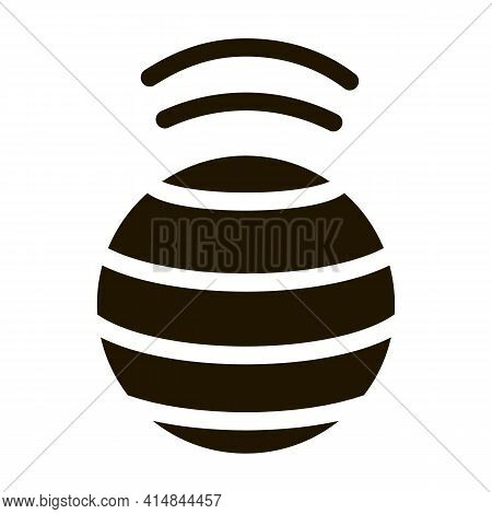 Spinning Ball Glyph Icon Vector. Spinning Ball Sign. Isolated Symbol Illustration