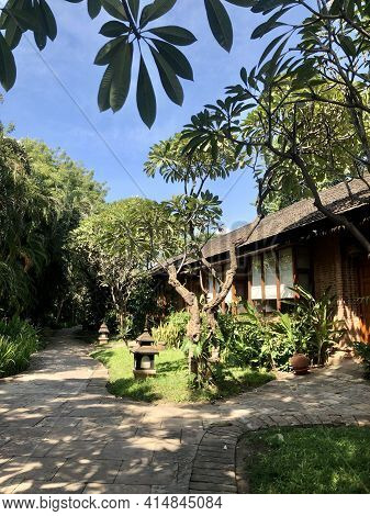 Bagan Myanmar - November 5, 2019: The Tharabar Gate Hotel In Bagan, Myanmar