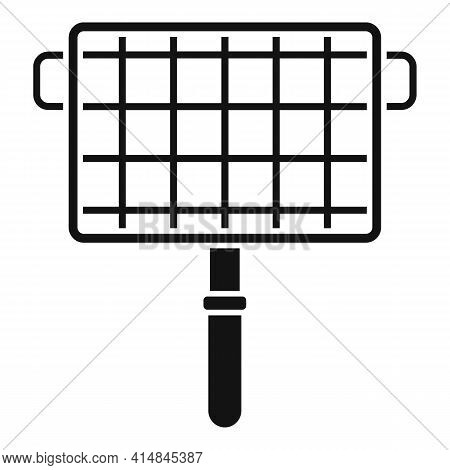 Bbq Handle Net Icon. Simple Illustration Of Bbq Handle Net Vector Icon For Web Design Isolated On Wh