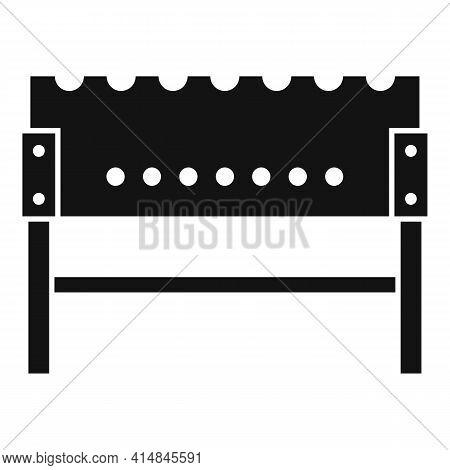 Coal Brazier Icon. Simple Illustration Of Coal Brazier Vector Icon For Web Design Isolated On White