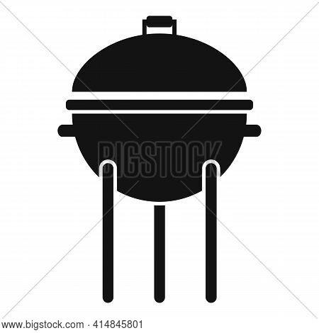 Pork Brazier Icon. Simple Illustration Of Pork Brazier Vector Icon For Web Design Isolated On White