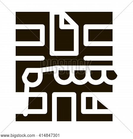 Residential Building For Restoration Glyph Icon Vector. Residential Building For Restoration Sign. I