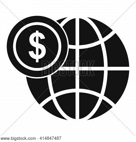 Global Credit Union Icon. Simple Illustration Of Global Credit Union Vector Icon For Web Design Isol