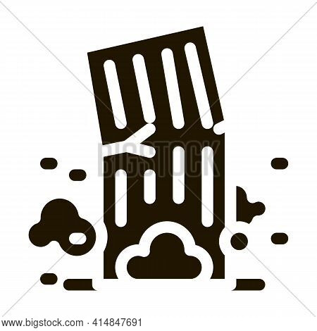High-rise Building Collapse Glyph Icon Vector. High-rise Building Collapse Sign. Isolated Symbol Ill