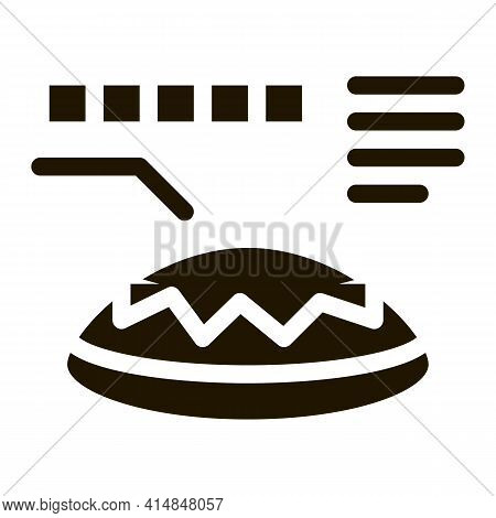 Lens Color Selection Glyph Icon Vector. Lens Color Selection Sign. Isolated Symbol Illustration