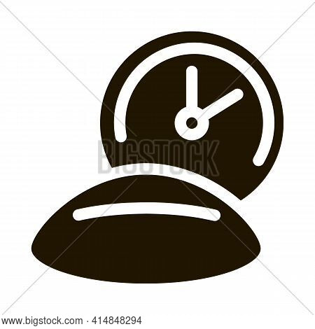 Long Lens Wear Glyph Icon Vector. Long Lens Wear Sign. Isolated Symbol Illustration