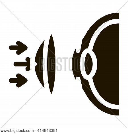 Wear Lenses On Eyes Glyph Icon Vector. Wear Lenses On Eyes Sign. Isolated Symbol Illustration