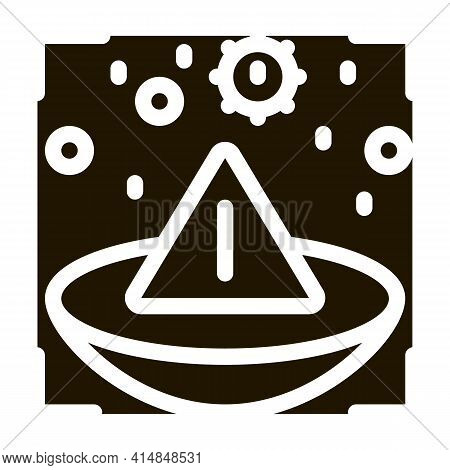 Medically Unsafe Lens Glyph Icon Vector. Medically Unsafe Lens Sign. Isolated Symbol Illustration