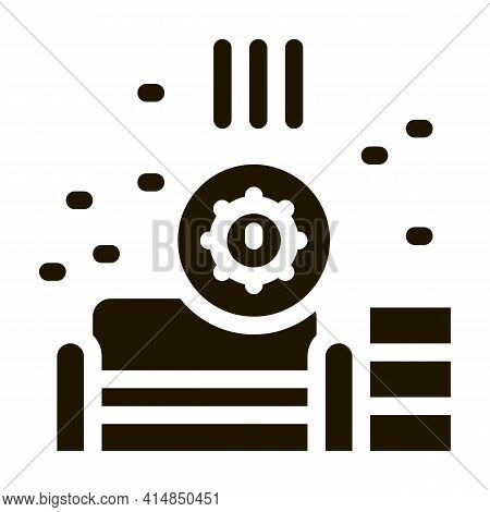 Identification Of Sanitary Problems In Living Room Glyph Icon Vector. Identification Of Sanitary Pro