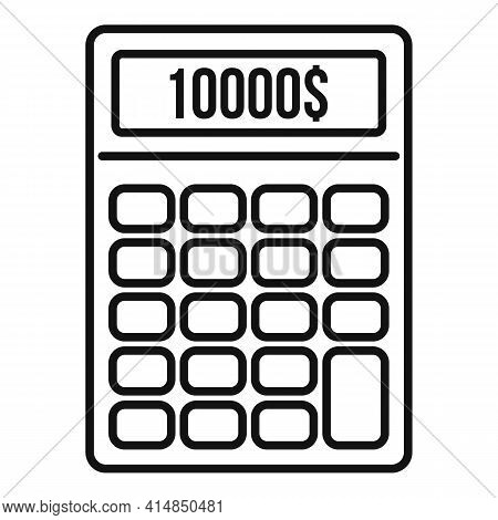 Finance Credit Calculator Icon. Outline Finance Credit Calculator Vector Icon For Web Design Isolate