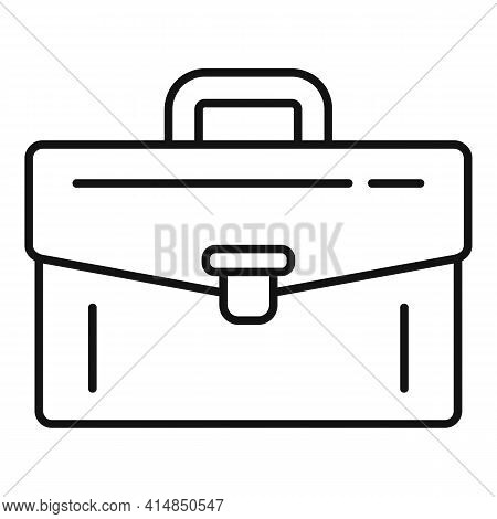 Bank Briefcase Icon. Outline Bank Briefcase Vector Icon For Web Design Isolated On White Background