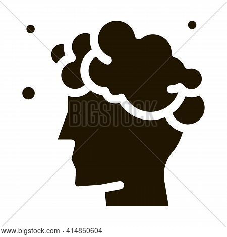 Washing Head Shampoo Glyph Icon Vector. Washing Head Shampoo Sign. Isolated Symbol Illustration