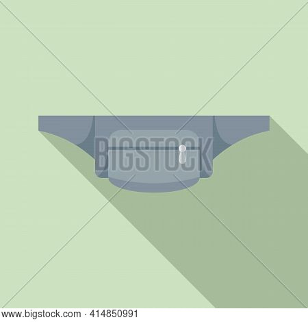 Cloth Waist Bag Icon. Flat Illustration Of Cloth Waist Bag Vector Icon For Web Design