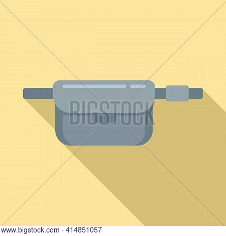 Sport Waist Bag Icon. Flat Illustration Of Sport Waist Bag Vector Icon For Web Design