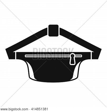 Waist Bag Pack Icon. Simple Illustration Of Waist Bag Pack Vector Icon For Web Design Isolated On Wh
