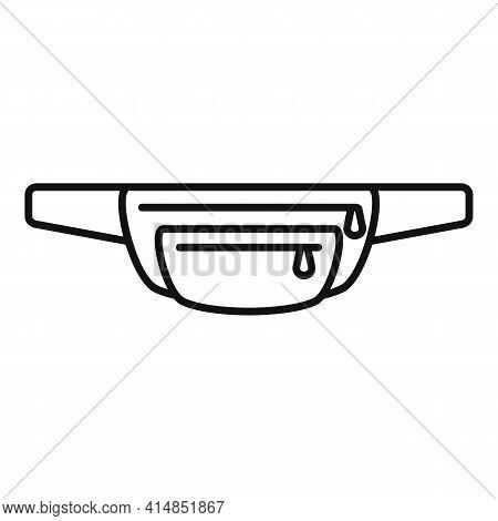 Money Waist Bag Icon. Outline Money Waist Bag Vector Icon For Web Design Isolated On White Backgroun