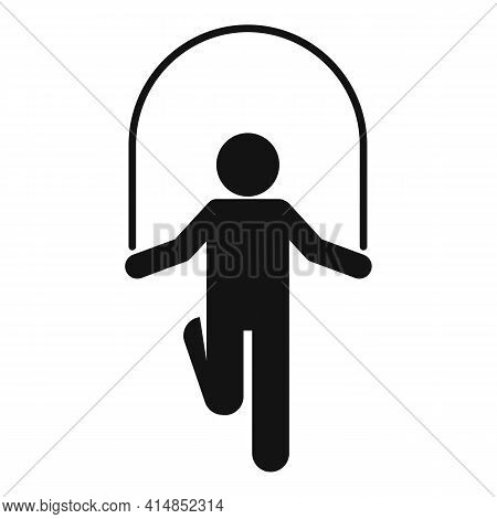 Gym Jump Rope Icon. Simple Illustration Of Gym Jump Rope Vector Icon For Web Design Isolated On Whit