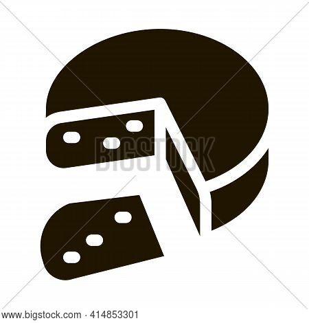 Mozzarella Cheese Head Glyph Icon Vector. Mozzarella Cheese Head Sign. Isolated Symbol Illustration