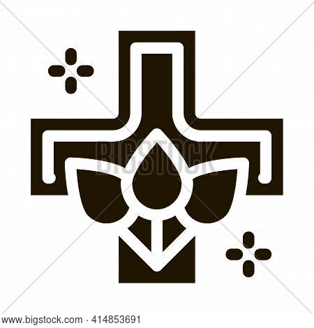 Folk Medicine Glyph Icon Vector. Folk Medicine Sign. Isolated Symbol Illustration