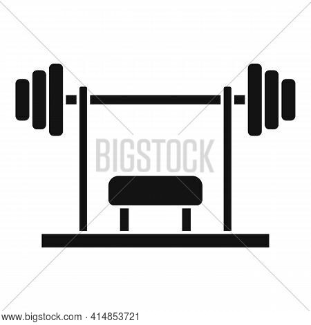 Gym Professional Bench Icon. Simple Illustration Of Gym Professional Bench Vector Icon For Web Desig
