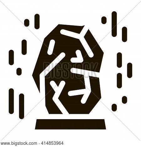 Healing Gem Glyph Icon Vector. Healing Gem Sign. Isolated Symbol Illustration