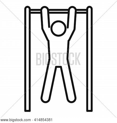 Pull-ups On The Horizontal Bar Icon. Outline Pull-ups On The Horizontal Bar Vector Icon For Web Desi